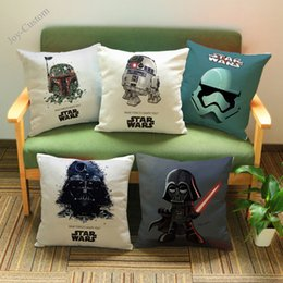 "$enCountryForm.capitalKeyWord Australia - 18"" Fan Gift Living Room Decoration Sofa Cushion Cover Cartoon Darth Vader Storm Trooper Office Chair Car Throw Pillow"