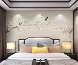 $enCountryForm.capitalKeyWord Australia - WDBH 3d photo wallpaper custom mural New Chinese style hand-painted pen and bird living room Home decor living room wallpaper for walls 3 d