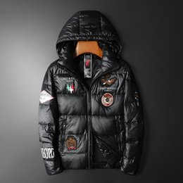 Pocket crafts online shopping - 2019 Winter European Station Down Jacket Glossy Craft Men s High end Stand Collar Down Jacket Men s Down Jacket