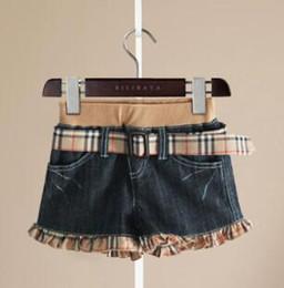 18 month old clothes online shopping - Children Clothing Girls Denim Shorts with Belt Girls Summer Elegant Casual Denim Shorts for yrs old