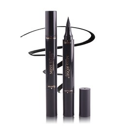 Manooby Hot Quick Dry Eye Liner Pencil Cosmetics Tool For Women Seal Liquid Black Eyeliner Waterproof Long-lasting Cosmetics Eyeliner