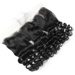 $enCountryForm.capitalKeyWord Australia - 8A 13X4 Lace Frontal Closure Brazilian Malaysian Peruvian Indian Virgin Human Hair Curly Loose Ear to Ear Lace Frontal