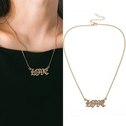 $enCountryForm.capitalKeyWord Australia - New Arrival Love Letter Pendant Necklace for Girls Simple Design Trendy Jewelry Lover Choker