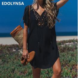 $enCountryForm.capitalKeyWord NZ - 2019 Cotton Beach Cover up Sarong Swim Cover up Pareos de Playa Mujer Beachwear Vestido Playa Bikini Cover up Tunics