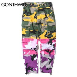 $enCountryForm.capitalKeyWord UK - Gonthwid Tri Color Camo Patchwork Cargo Pants Men's Hip Hop Casual Camouflage Trousers Fashion Streetwear Joggers Sweatpants Y19071801
