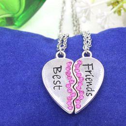 Bff Necklaces Australia - Best Friends Necklaces Forever Sister Necklaces Pendants BFF Couple Jewelry Colar Women Enamel Love Heart Necklace