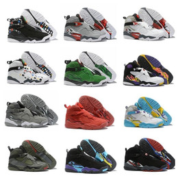 $enCountryForm.capitalKeyWord Australia - New 2019 Jumpman 8 8s Red Green Wolf Grey Black Purple Green Mens Basketball Shoes For High Quality Sports Sneakers Men Trainers Size7-13