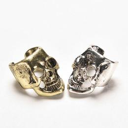 $enCountryForm.capitalKeyWord Australia - Hot Selling European And America Retro Brincos Punk Skull Bones Earrings Ear Cuff For Women And Men Skull Head Earings