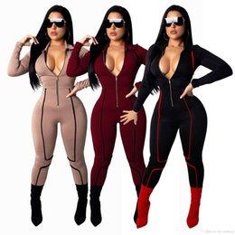 bfe501e2128e Discount women jumpsuit black high neck - Newest Deep V Neck Sexy Sheath Jumpsuit  Women Front