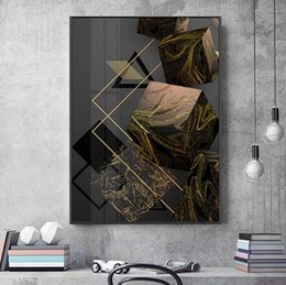 silk painting patterns NZ - Modern Minimalistic Geometric Pattern Letter Nordic Modern Style HPoster Decor Wall Art For Living Room Bedroom