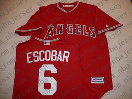 $enCountryForm.capitalKeyWord Australia - Cheap Custom Anaheim YUNEL ESCOBAR Baseball jerseys Red Stitched Retro jerseys Customize any name number MEN WOMEN YOUTH XS-5XL