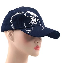 Skull Ball Caps Australia - High Quality Unisex 100% Cotton Outdoor Baseball Cap Skull Embroidery Snapback Fashion Sports Hats For Men & Women Cap