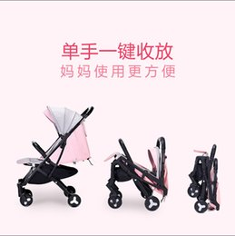 children portable strollers Canada - Four Wheels Stroller Ultra Light Portable Baby Cart Quick Folding Baby Umbrella Car Child Plane Travel Pram Light Baby Carriage