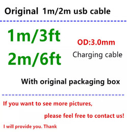 $enCountryForm.capitalKeyWord Australia - 50pcs With retail packaging box 1m 3ft OD 3.0mm USB Data Charger Cable with Braided Weave usb cable for i5 6 7 8 x with green sticker