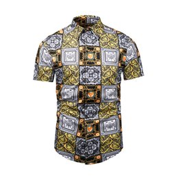 $enCountryForm.capitalKeyWord UK - Summer Style Shirt Men Short Sleeve Plus Size Men's Shirt Beach Wear Man Clothing Floral Shirt For Male