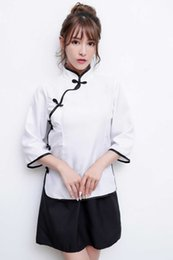 $enCountryForm.capitalKeyWord Australia - Free Shipping New sexy lingerie cosplay white blue female Slim professional skirt suit hotel beauty overalls professional wear uniform was t