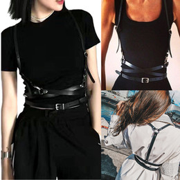 $enCountryForm.capitalKeyWord UK - UK Faux Leather Cage Vest Chest Sculpting Body Harness Adjustable Strap Waist Belt Cincher Clothing Accessories