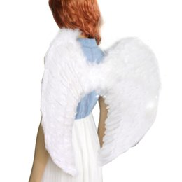 black angel wings girls Australia - Girl Halloween Christmas Party Decoration Adults Kids Feather Fairy Angel Wings Night Party Event Supplies Fancy Dress Up Hot