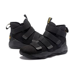 12cdb1cda3ea Mens lebron soldier 11 XI high basketball shoes for sale Christmas BHM Oreo  youth kids sneakers boots with original box Size 7 12