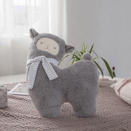 $enCountryForm.capitalKeyWord Australia - Lovely pillow Cartoon Alpaca Plush Doll Toy Fabric Sheep Soft Stuffed Animal Plush Birthday Gift For Baby Kid Children