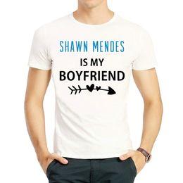 Boyfriends Shirt Australia - Boyfriend t shirt Shawn Mendes Handwritten short sleeve tops Mercy singer colorfast print tees Unisex clothing Fadeless modal tshirt