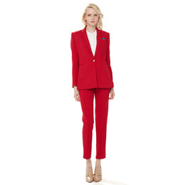 $enCountryForm.capitalKeyWord UK - Red Women Business Suits Blazer Female Office Uniform Trouser 2 Piece Suits Ladies Winter Formal Suits
