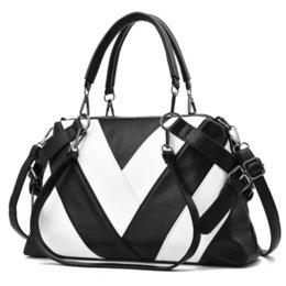 $enCountryForm.capitalKeyWord Australia - Fashion Brand Designer Lady Handbag Large Capacity Soft Pu Leather Women Shoulder Bag Black White Female Tote Bag