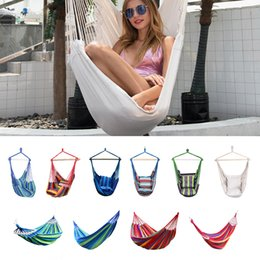 $enCountryForm.capitalKeyWord Australia - Hammock Chair Outdoor Garden Hammock Hanging Chair for Home Travel Camping Hiking Swing Canvas Stripe