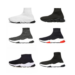 new style casual shoes for men 2019 - New Style Fashion Sock Casual Shoes For Men Women Luxury Designer Trainers Shoes Boots Sneakers Black White Red Size 36-