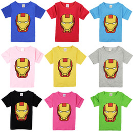 $enCountryForm.capitalKeyWord Australia - children T Shirts iron man Cotton Short Sleeve Kids child T-shirt Printed Tees For Boys