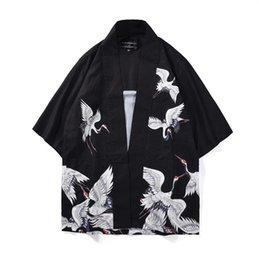 0577f2a820 2019 summer vintage black japanese men s warrior kimono with obi traditional  yukata samurai clothing convention costume