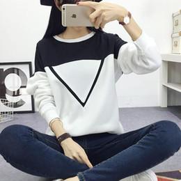 $enCountryForm.capitalKeyWord Australia - Winter Women Hoodies Sweatshirts Plus Size Fashion Black White Patchwork V Pattern Pullover Clothes O-Neck Long Sleeve Hoody Sweatshirt