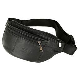 $enCountryForm.capitalKeyWord UK - High brand design Male Genuine Leather Men Waist bags Real Cowskin Belt bag Men's Casual travel sport bags Hot Selling 2019