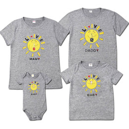 baby mom clothing Canada - 2019 Summer Family Love Matching Cute Sun T-Shirt Mom Dad Kid Baby Tops Shirts Casual Blouse Outfits Clothes