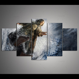Art Church Australia - Modern Abstract Art Church Decor Jesus Painting 5 Panel No Frame Print Poster Picture For Bedroom Home Decor