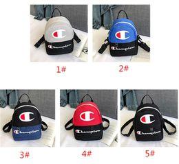 $enCountryForm.capitalKeyWord Australia - Champions Letter Backpacks Students Mini School Bags Canvas Shoulder Bag Travel Sport Crossbody Chest Waist Bag Brand Fanny Packs Rucksack