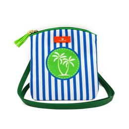 Cell phone purse pattern online shopping - Drop shipping Custom beach stripe Sling Bag anchor mermaid patterns women s cell phone purse hippocampus crossbody bag with tassel