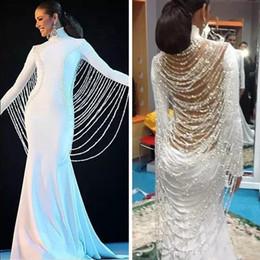 venda por atacado 2019 Longo Oriente Médio Muçulmano Dubai Pageant Vestidos Beading Pérolas Arábia Saudita Prom Party Vestidos Vestidos De Fiesta Formal Vestidos de Noite