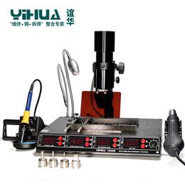 YIHUA 1000B 4 en 1Multi-Function estación de precalentamiento estación de soldadura infrarroja BGA SMD Pistola de aire caliente + 540W + 75W Soldadores en venta