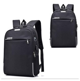 ipad anti theft UK - 17.3 inch Laptop Rucksack Anti-theft Backpack Travel Backpack Large Capacity Business Bags USB Charge College Student School Bags hot