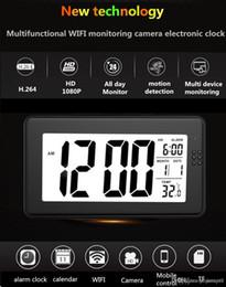 Großhandel 1080P HD Nachtsicht WiFi-Netzwerk Wecker Handy-Fernüberwachung Monitor Baby Betreuer Kindermädchen Monitor Nachtsicht kein Licht