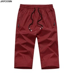 mens beach trousers NZ - JACOSIN Cotton Linen Mens Pant Casual Outdoor Sports Loose Pants Fast-drying Slim Straight Trousers in Beach Summer 2019