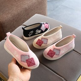 ethnics shoes Australia - Children cloth shoes Chinese style casual sneakers autumn winter kids girls Hanfu shoes little girls princess ethnic style