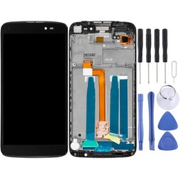 alcatel idol lcd UK - LCD Screen and Digitizer Full Assembly with Frame for Alcatel One Touch Idol 3 5.5 LTE   6045