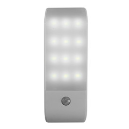 infrared wardrobe light Australia - PIR Infrared Motion Sensor USB Rechargeable 12 LED Nightlight Light Induction Corridor Closet Wardrobe Night Lamp LED USB SY0264