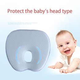 anti flat head pillow baby Australia - Newborn pillow Baby anti migraine correction breathable cotton children's pillow slow rebound memory baby flat head pillow SH190917