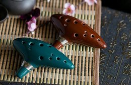ocarina time instrument NZ - Quality 12 Hole Ocarina Instrument Kiln-fired Ceramic Alto C Legend of Zelda Ocarina Flute of Time Worldwide Musical Instrument