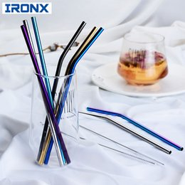 $enCountryForm.capitalKeyWord Australia - IRONX 304 Stainless Steel Straw Reusable Metal Drinking Straw +1 Brush Bar Accessories For 20Oz Cup D19011702