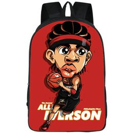 school picture UK - Quick backpack Allen Iverson daypack Cool street schoolbag Hip hop picture print rucksack Sport school bag Outdoor day pack