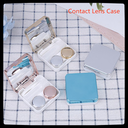kit boxes Australia - New Colored Contact Lens Case With Mirror Lovely Women Eyes Contact Lens Container Travel Kit Box Colored Lenses Box